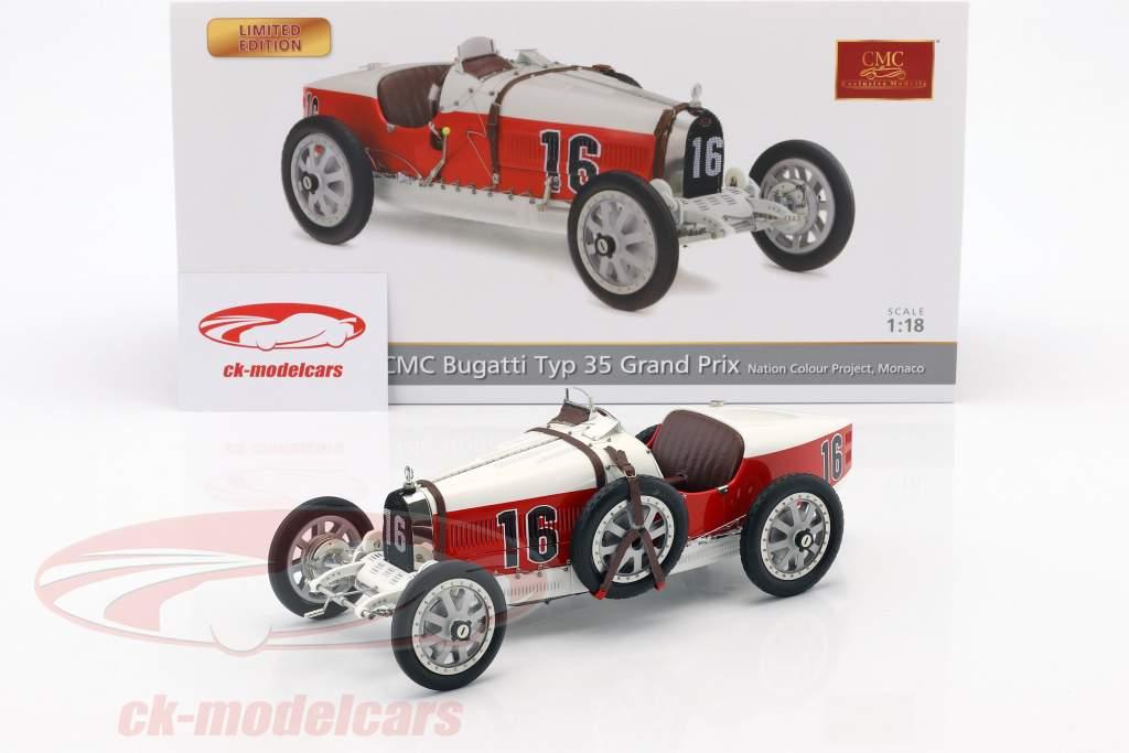 Bugatti Typ 35 Grand Prix #16 Nation Colour Project Monaco 1:18 CMC