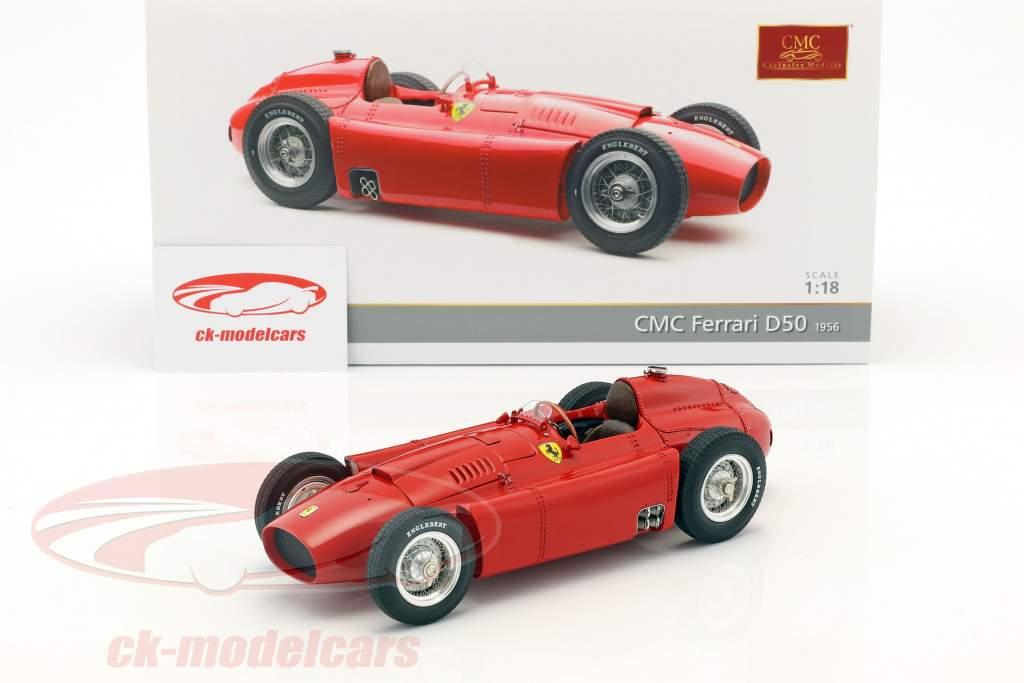 Ferrari D50 ano de construção 1956 vermelho 1:18 CMC