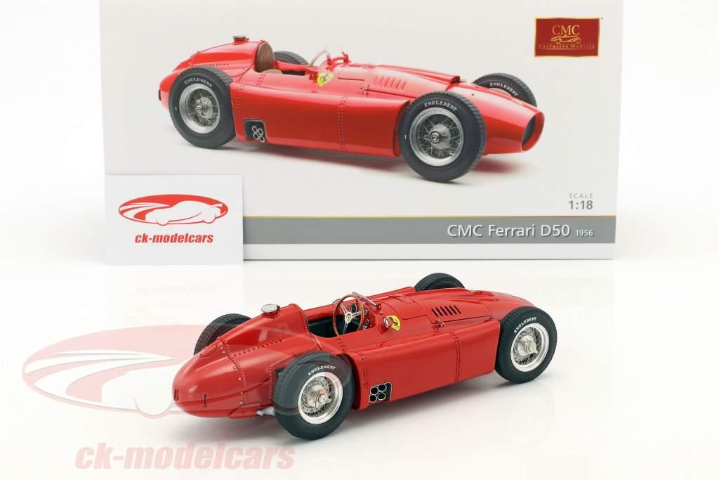 Ferrari D50 Bouwjaar 1956 rood 1:18 CMC