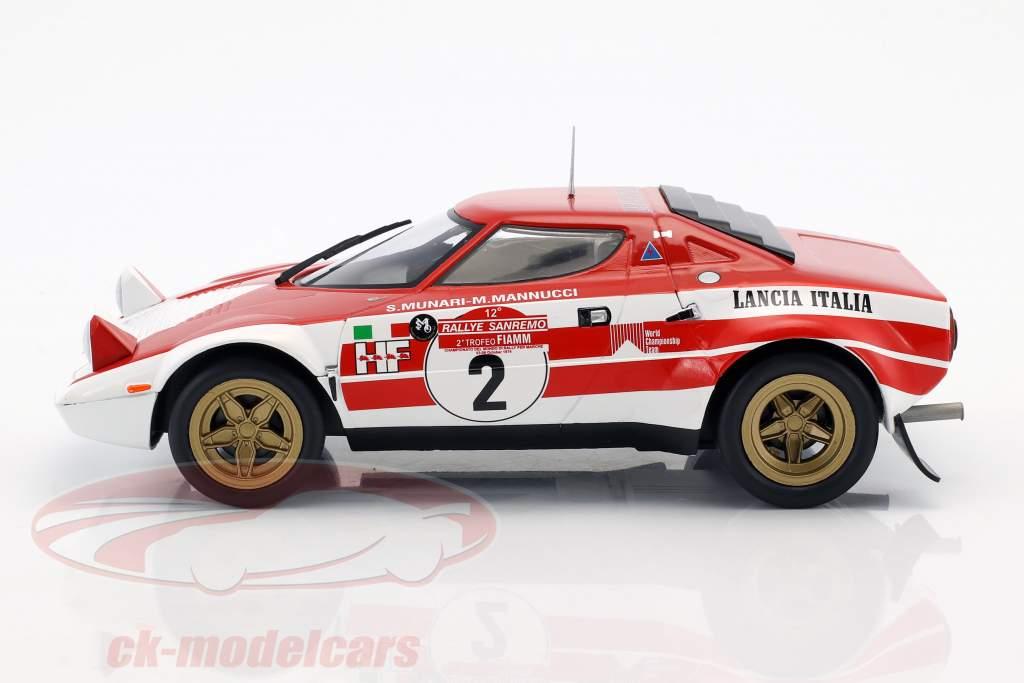 Lancia Stratos HF #2 ganador Rallye SanRemo 1974 Munari, Manucci 1:18 Triple9