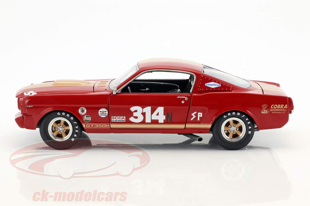 Ford Mustang Shelby GT350H #314 année de construction 1966 rouge avec or rayures 1:18 GMP