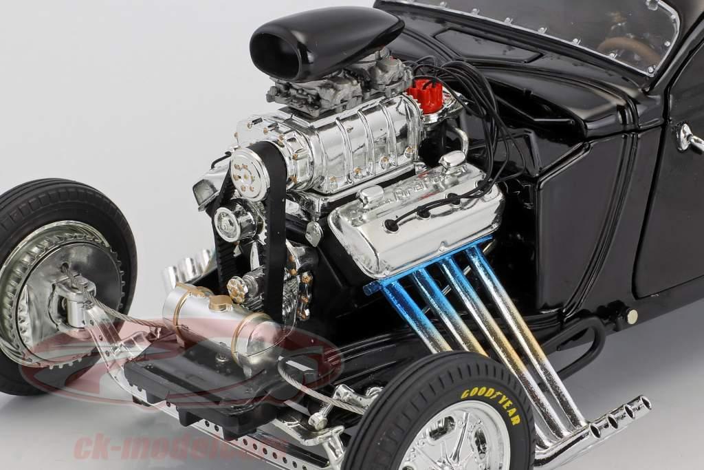 Blown Altered Coupe Outlaw anno di costruzione 1934 nero 1:18 GMP