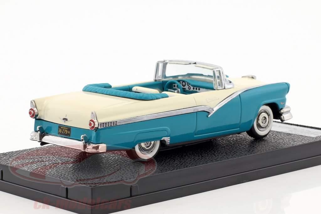 Ford Fairlane aperto convertibile anno di costruzione 1956 blu / bianco 1:43 Vitesse