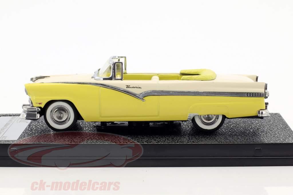 Ford Fairlane Open Convertible year 1956 yellow / white 1:43 Vitesse