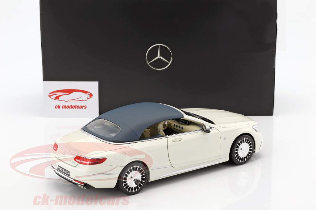 Mercedes-Benz Maybach S 650 Cabriolet with removable Top designo diamond white bright 1:18 Norev