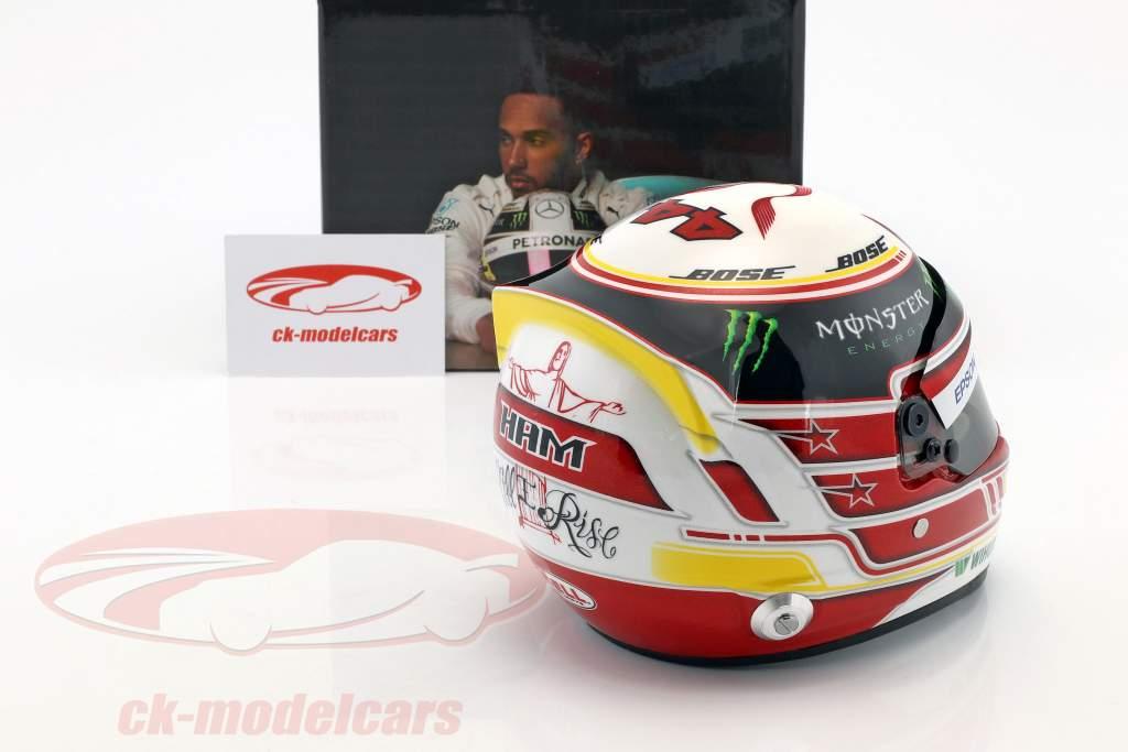 Lewis Hamilton Mercedes GP formula 1 2018 casco 1:2 Bell