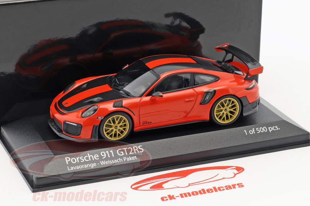 Porsche 911 (991.2) GT2 RS Weissach Package 2018 lave orange 1:43 Minichamps