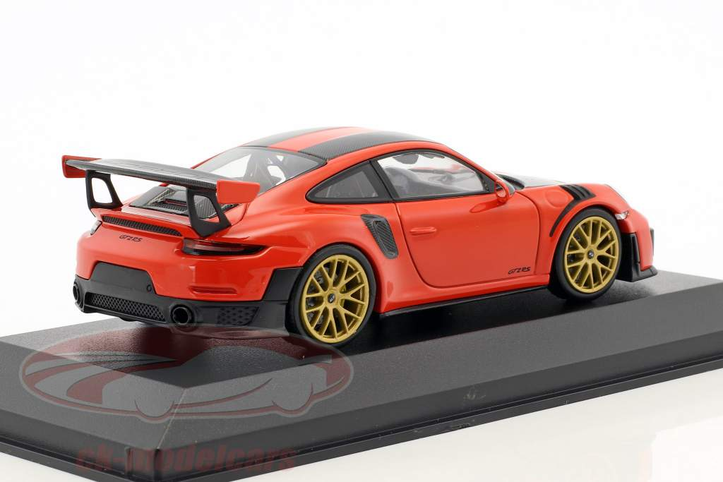 Porsche 911 (991.2) GT2 RS Weissach Package 2018 lava orange 1:43 Minichamps