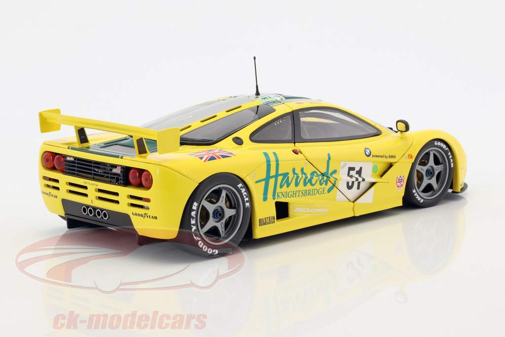 McLaren F1 GTR #51 3 ° 24h LeMans 1995 Wallace, D. Bell, J. Bell 1:18 Minichamps