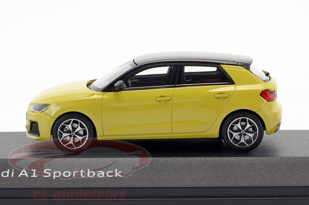 Audi A1 Sportback Phyton geel 1:43 iScale