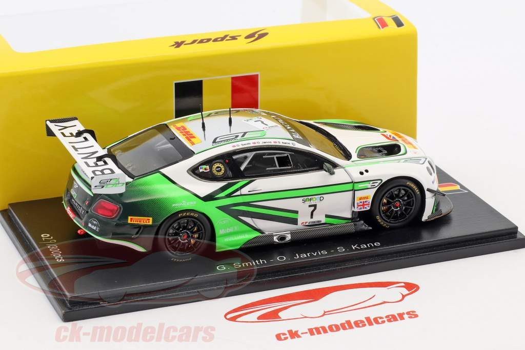 Bentley Continental GT3 #7 24h Spa 2017 Smith, Jarvis, Kane 1:43 Spark