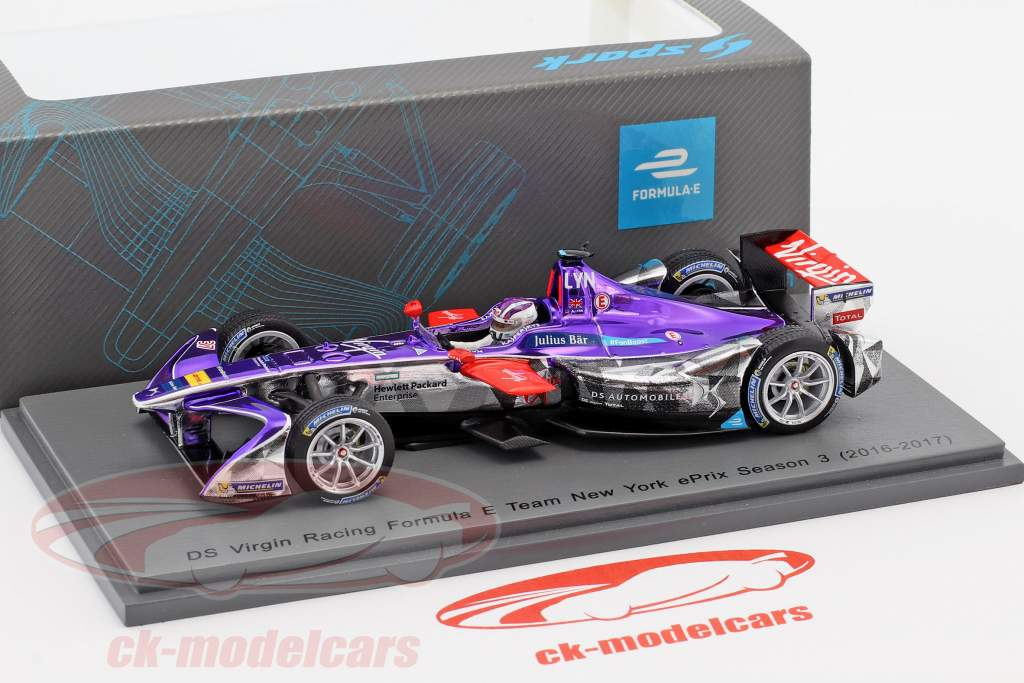 Alex Lynn #37 New York ePrix Season 3 formula E 2016/17 1:43 Spark