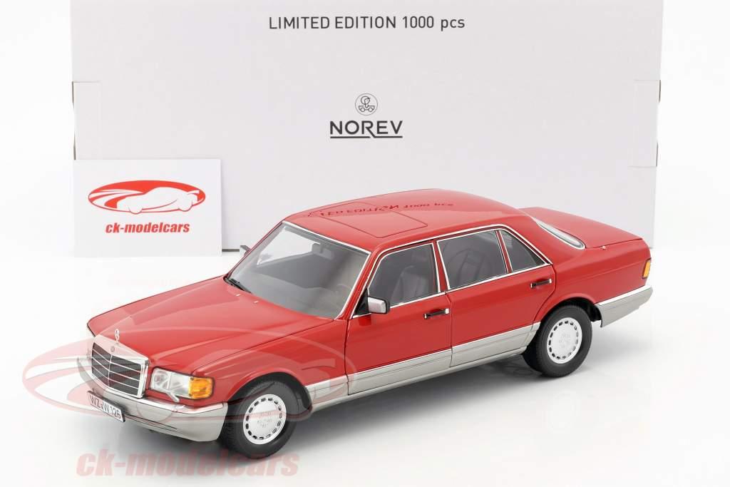 Mercedes-Benz 560 SEL W126 Baujahr 1987 rot 1:18 Norev