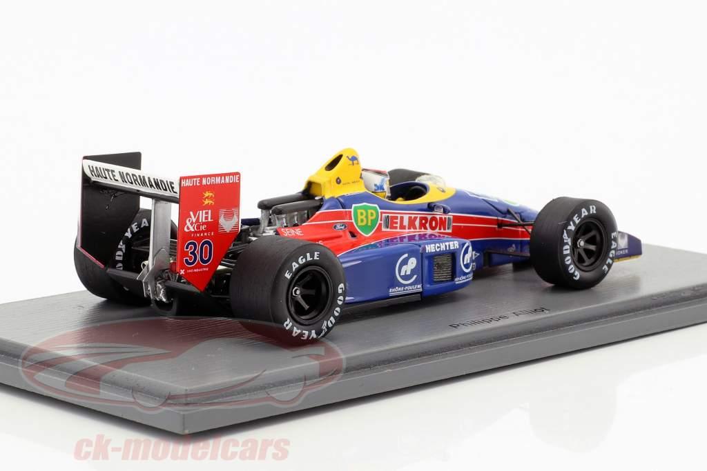 Philippe Alliot Lola LC88 #30 monaco GP formula 1 1988 1:43 Spark