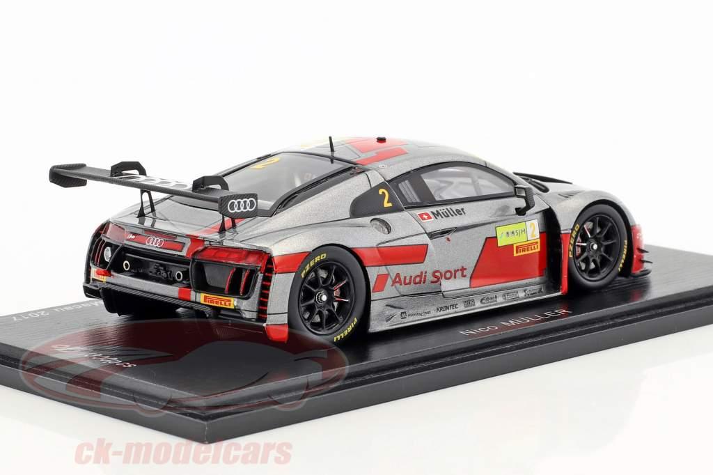 Audi R8 LMS #2 FIA GT World Cup Macau 2017 Nico Müller 1:43 Spark