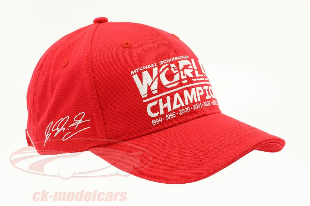 Michael Schumacher Cap World Champion rot