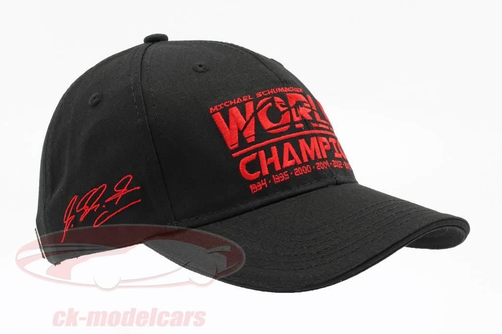 Michael Schumacher chapeau World Champion noir
