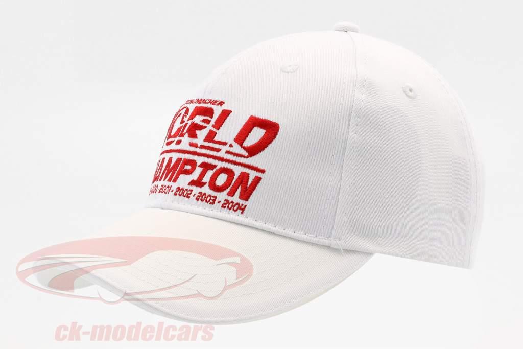 Michael Schumacher chapeau World Champion blanc