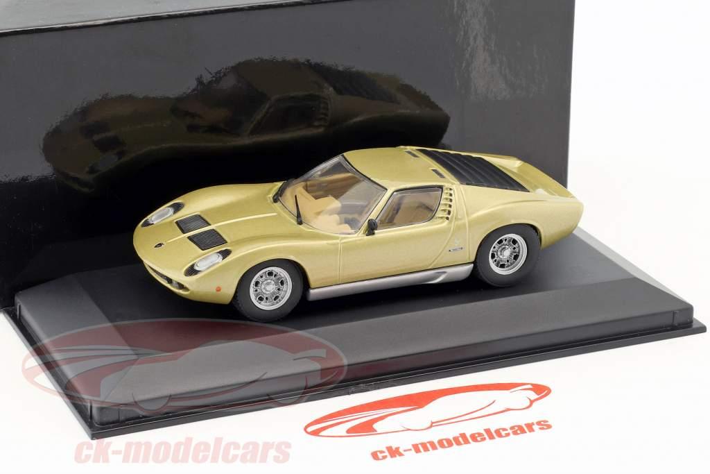 Lamborghini Miura année de construction 1966-1971 or métallique 1:43 Minichamps
