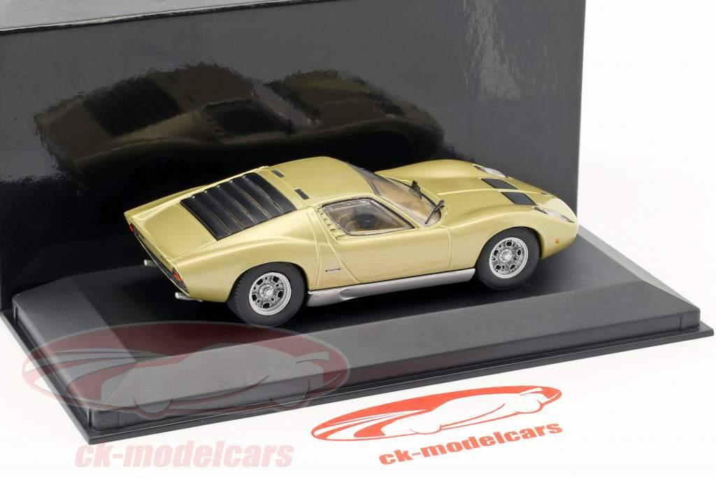 Lamborghini Miura anno di costruzione 1966-1971 oro metallico 1:43 Minichamps