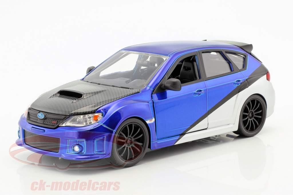 Brian's Subaru Impreza WRX STi Movie Fast & Furious (2009) blue / silver / black 1:24 Jada Toys