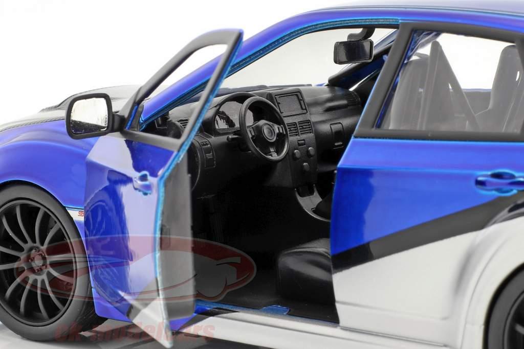 Brian's Subaru Impreza WRX STi filme Fast & Furious (2009) azul / prata / preto 1:24 Jada Toys