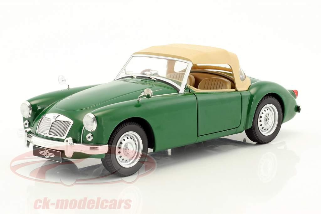 MGA MKI Twin Cam chiuso softtop anno di costruzione 1959 verde / beige 1:18 Triple9