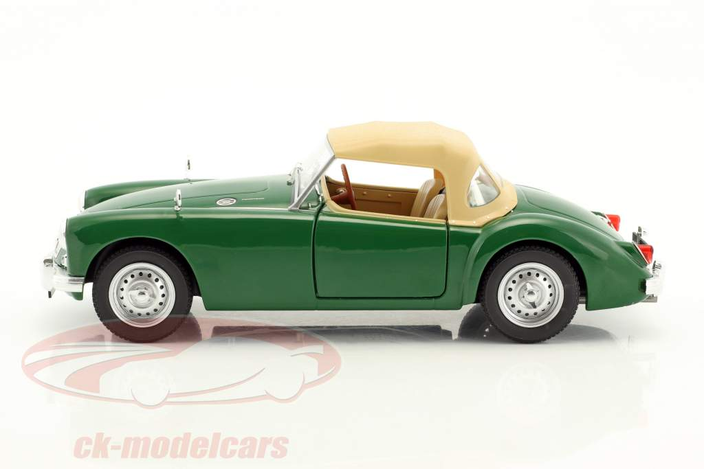 MGA MKI Twin Cam fermé softtop année de construction 1959 vert / beige 1:18 Triple9