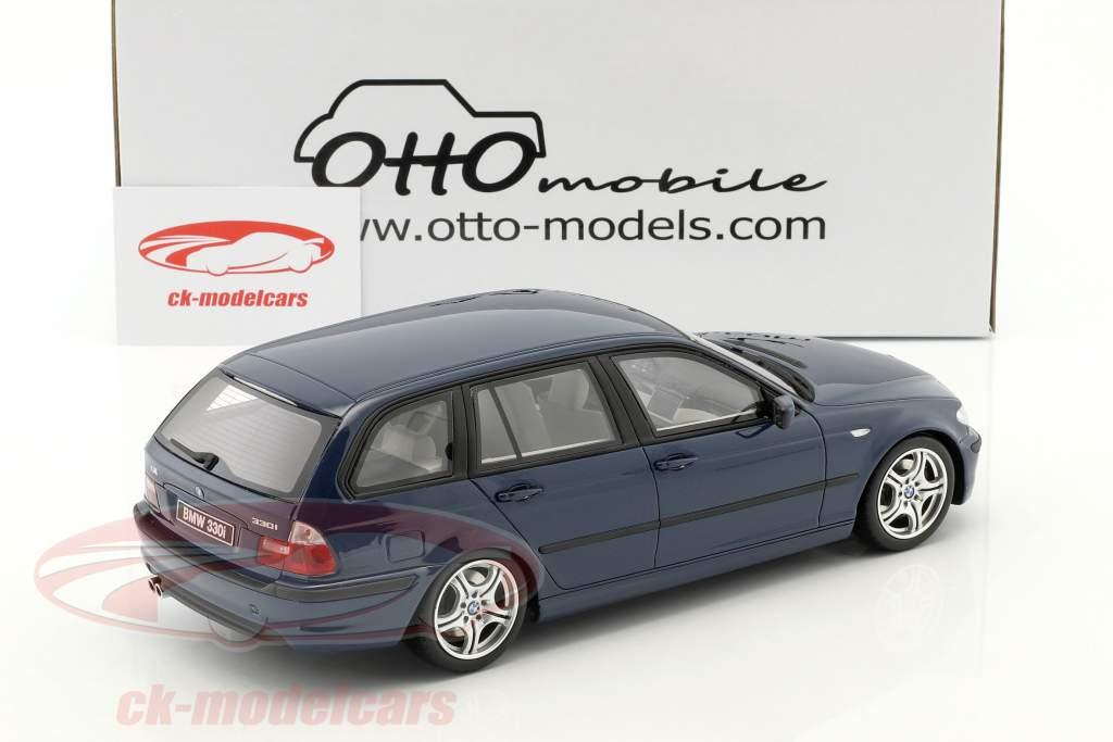 BMW 330i (E46) Touring M Pack Baujahr 2005 mystic blau 1:18 OttOmobile