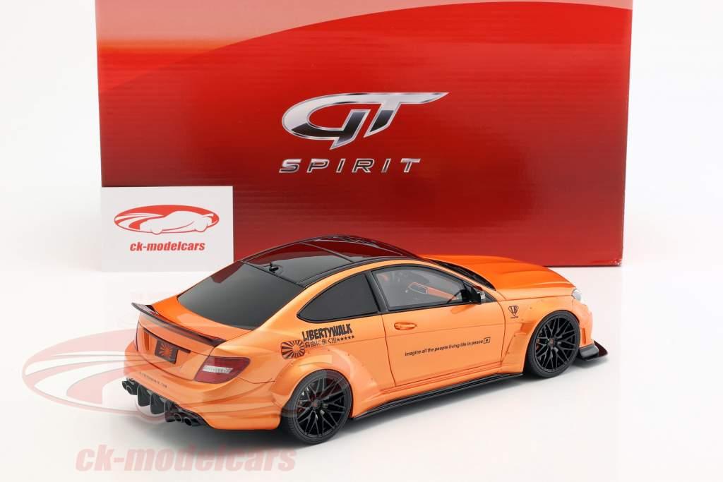Mercedes-Benz C63 LB-Works year 2017 orange metallic 1:18 GT-Spirit