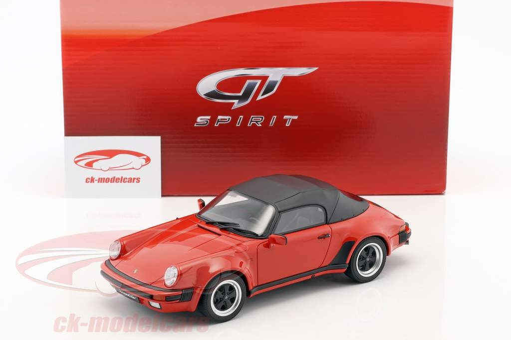 Porsche 911 3.2 Speedster avec softtop année de construction 1989 rouge 1:18 GT-Spirit