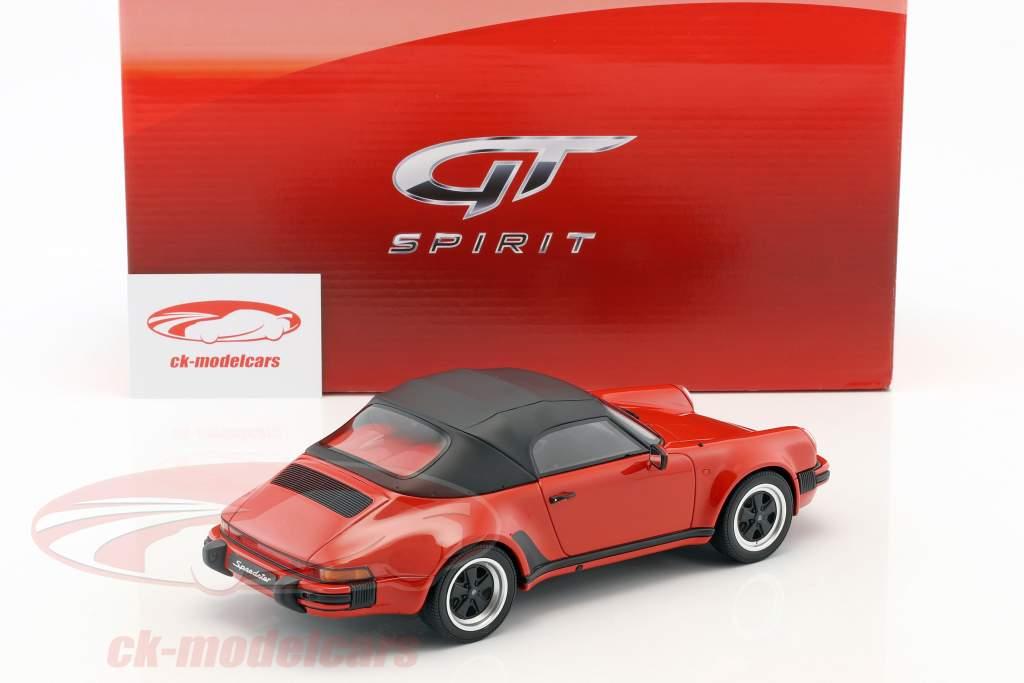 Porsche 911 3.2 Speedster mit Softtop Baujahr 1989 rot 1:18 GT-Spirit