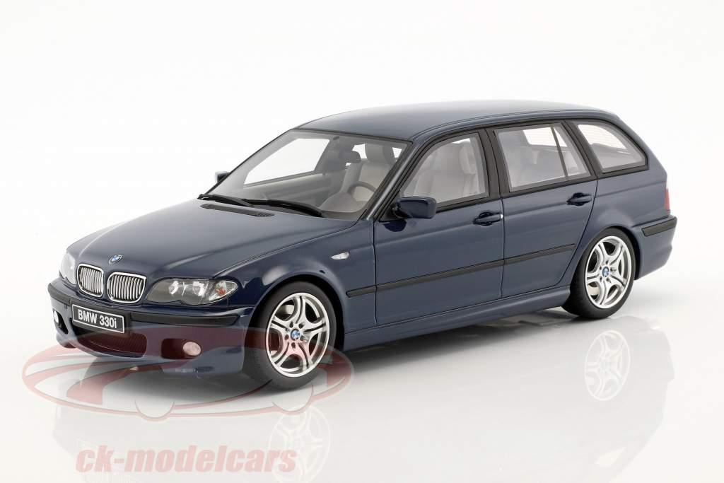 BMW 330i (E46) Touring M Pack année de construction 2005 mystique bleu 1:18 OttOmobile