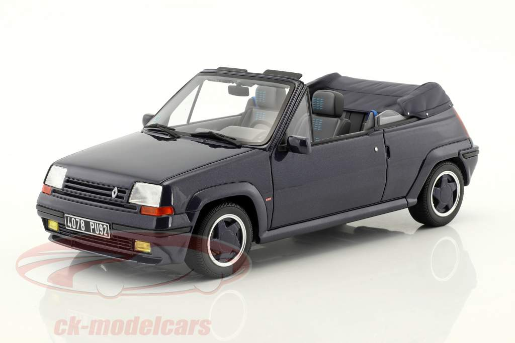 Renault 5 GT Turbo cabriolet by EBS année de construction 1990 bleu 1:18 OttOmobile