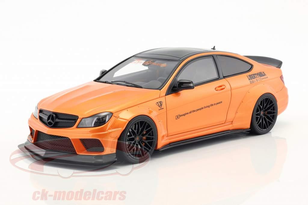 Mercedes-Benz C63 LB-Works Baujahr 2017 orange metallic 1:18 GT-Spirit