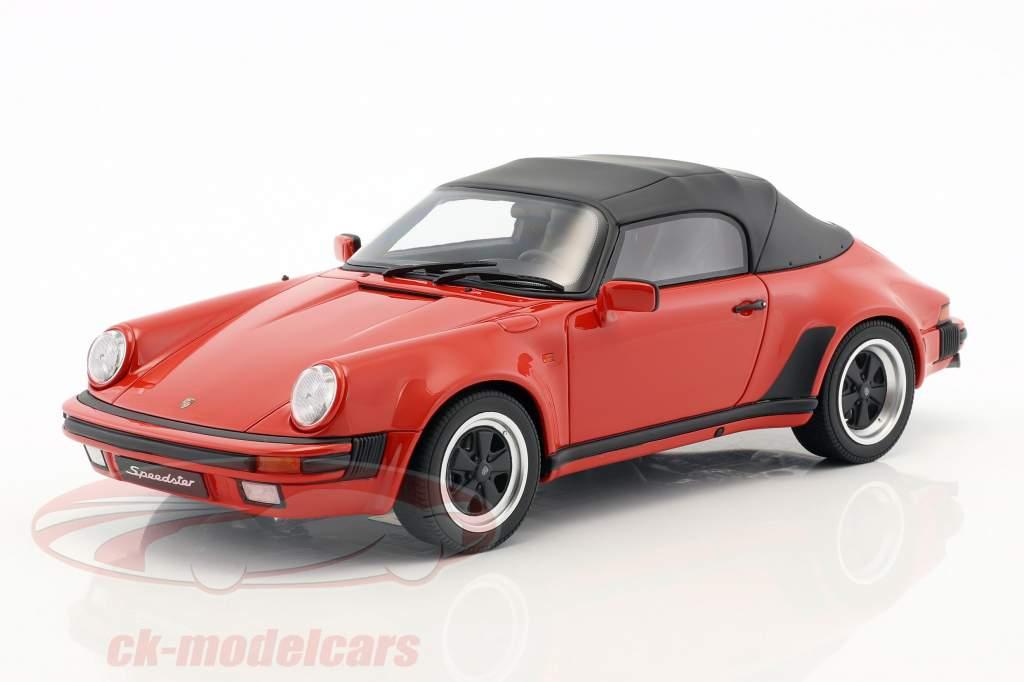Porsche 911 3.2 Speedster With softtop year 1989 red 1:18 GT-Spirit