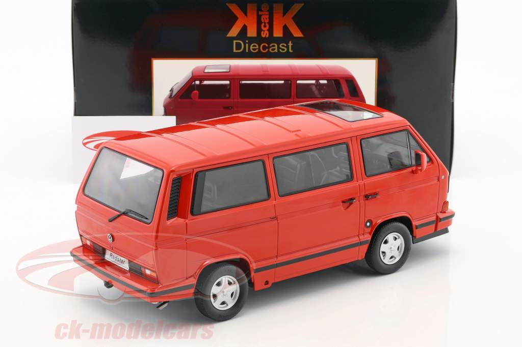 Volkswagen VW Bus T3 Red Star année de construction 1993 rouge 1:18 KK-Scale