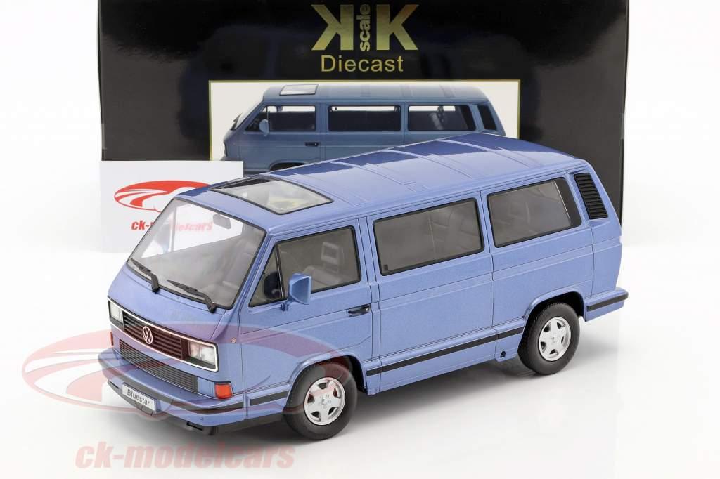 Volkswagen VW Bus T3 Blue Star Baujahr 1993 hellblau metallic 1:18 KK-Scale