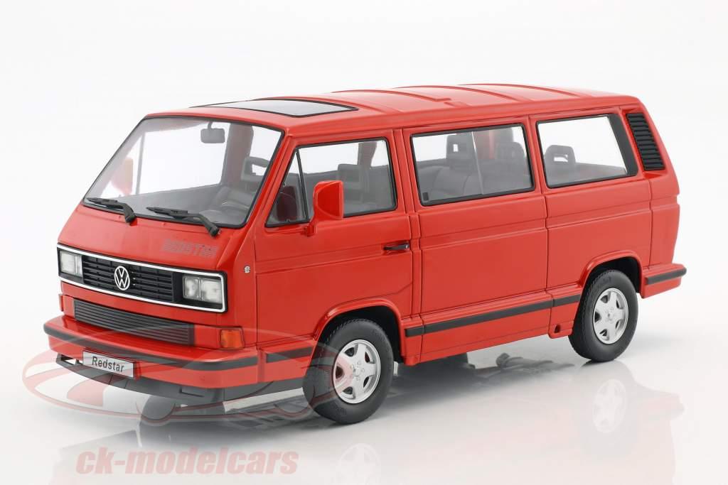 Volkswagen VW Bus T3 Red Star anno di costruzione 1993 rosso 1:18 KK-Scale