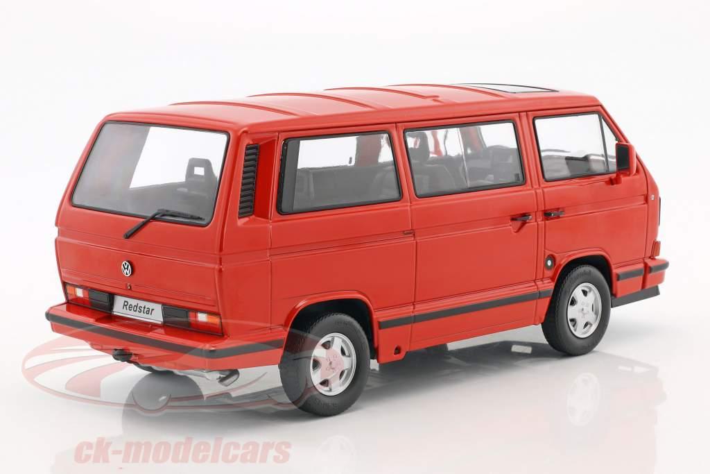 Volkswagen VW Bus T3 Red Star Baujahr 1993 rot 1:18 KK-Scale