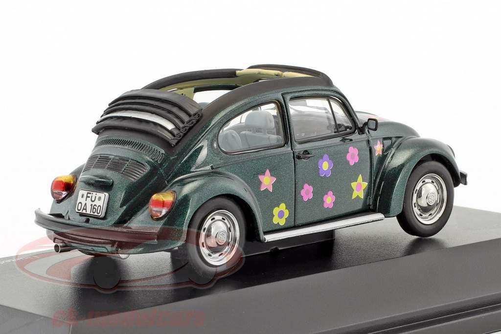 Volkswagen VW Beetle Open Air Flower Decor green metallic 1:43 Schuco