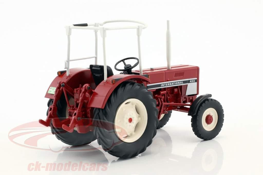 International 433 tracteur avec sécurité argent rouge 1:32 Schuco