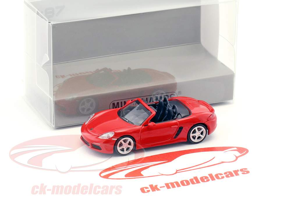 Porsche 718 Boxster Baujahr 2016 rot 1:87 Minichamps