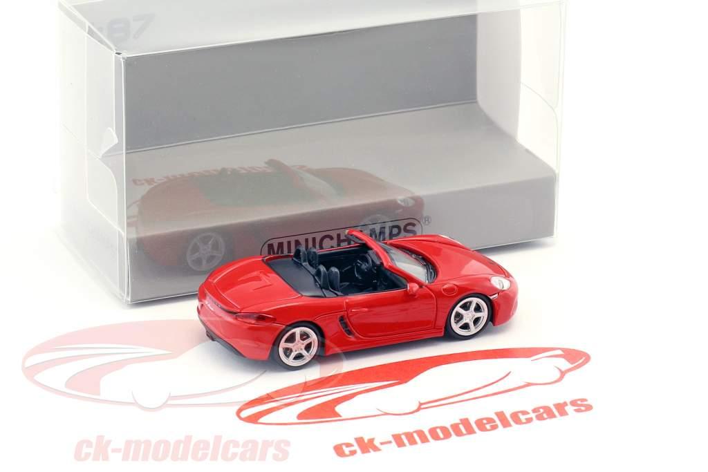 Porsche 718 Boxster anno di costruzione 2016 rosso 1:87 Minichamps