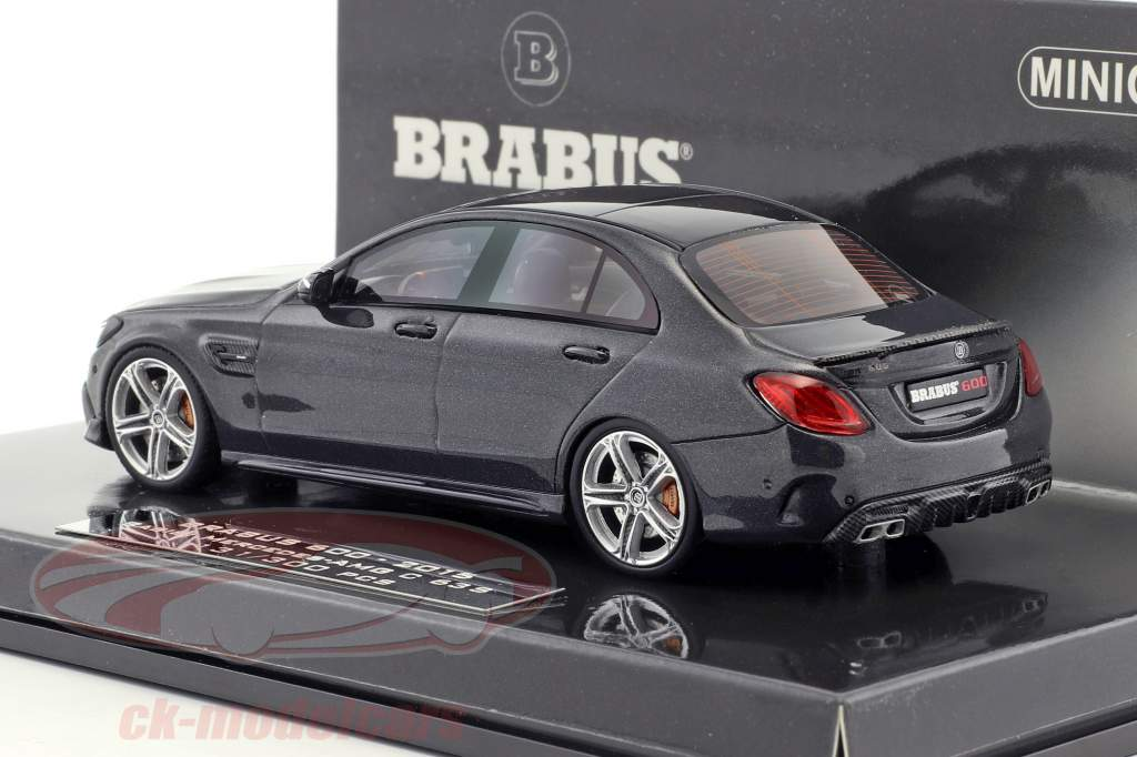 Brabus 600 based on Mercedes-Benz AMG C 63 S année de construction 2015 noir 1:43 Minichamps