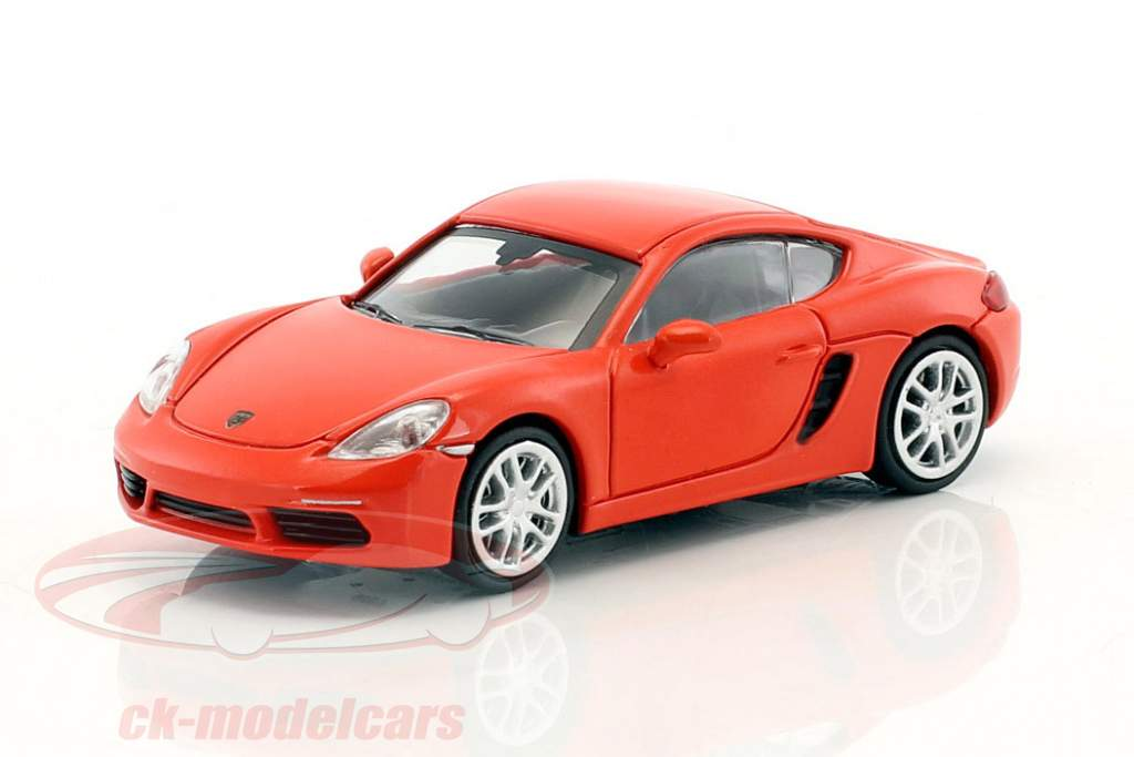 Porsche 718 Cayman year 2016 orange 1:87 Minichamps