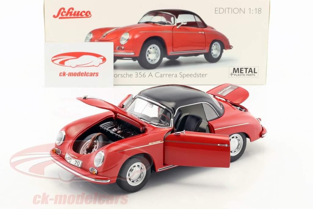 Porsche 356 A Carrera Speedster 70 ans Porsche rouge / noir 1:18 Schuco