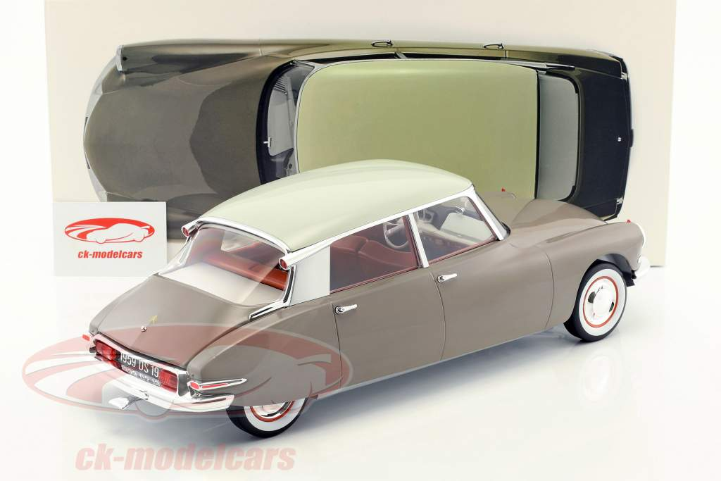 Citroen DS 19 year 1959 brown / white 1:12 Norev