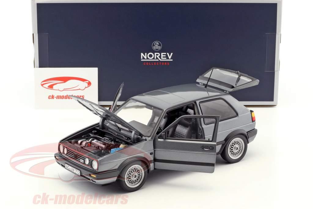 Volkswagen VW Golf II GTI Baujahr 1990 grau metallic 1:18 Norev