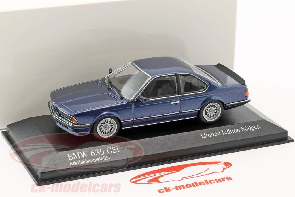 BMW 635 CSi Baujahr 1982 blau metallic 1:43 Minichamps